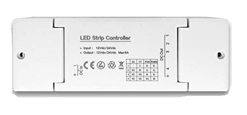 Isolicht 4 Kanal Dimmer, Controller, Treiber, Dimmaktor ZIGBEE, kompatibel mit Smart Home und Sprachsteuerung, 12/24V, Osram Lightify® und IKEA TRÅDFRI®, RGB, RGBW