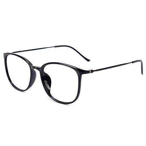 CAOXN Gafas De Lectura Multifocales Progresivas, Lentes De Resina HD Anti-Luz Azul, Gafas Ópticas para Presbicia E Hipermetropía,Negro,+1.50