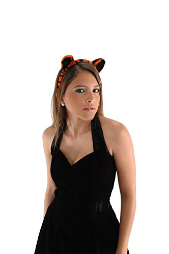 Tiger Ears Headband and Tail Costume Accessory Kit Orange
