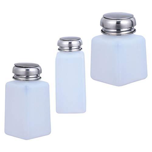 HEALLILY 3 botellas de plástico de 250 ml, 200 ml, 100 ml, dispensador de alcohol y metanol (color blanco)