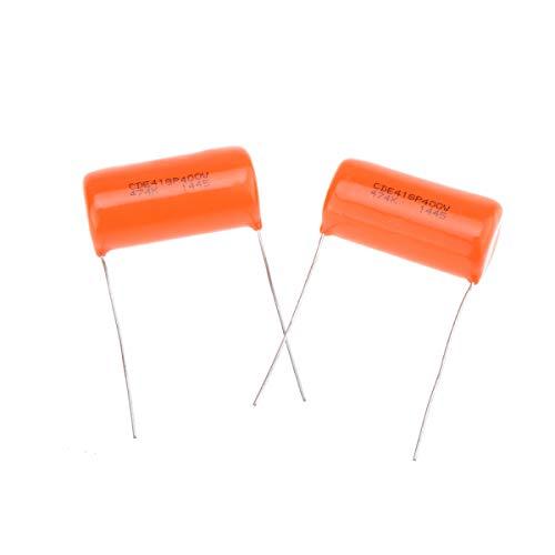 CDE Sprague Orange Drop Condensador Tono Capacitor .47uF 418P 474K 400V para Guitarra Eléctrica o Bajo (Set de 2)