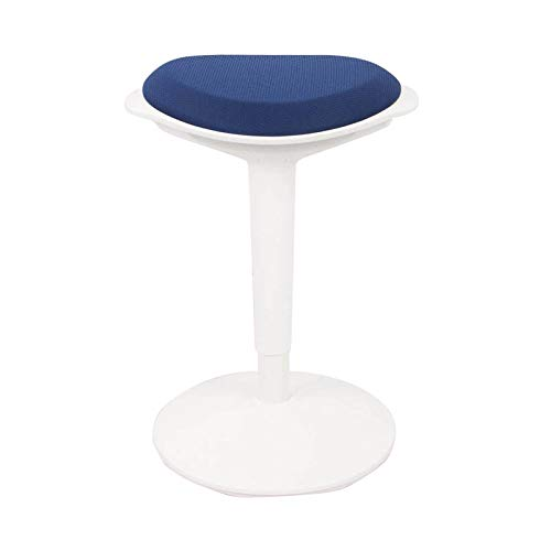 FLEXISPOT Wobble Stool Chair Sit-Stand Adjustable Height Ergonomic Active Learning Stool Balance Chair Padded Office Desk Chair (Blue)