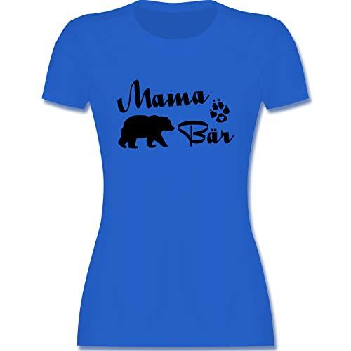 Muttertagsgeschenk - Mama Bär Lettering - L - Royalblau - Damen Tshirt Mama bär - L191 - Tailliertes Tshirt für Damen und Frauen T-Shirt