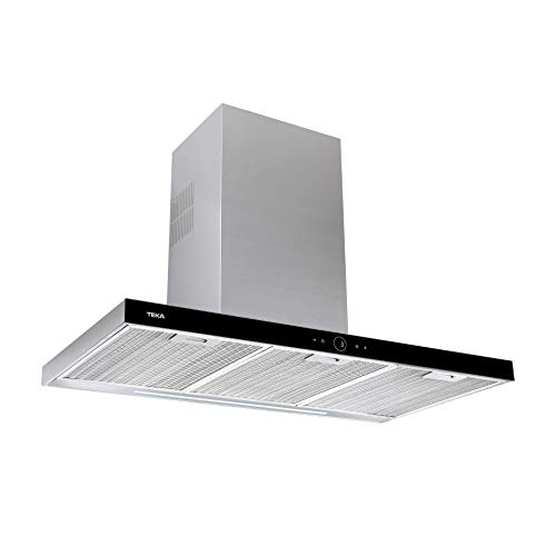 Teka - Campana Extractora, Touch Control y Motor ECOPOWER, Modelo DLH 986, Negro, 67 x 90 x 48 cm
