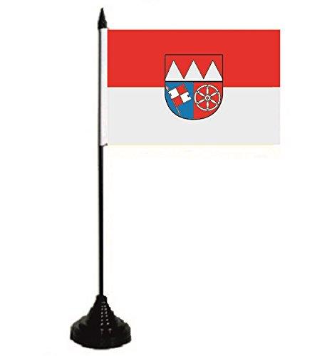 U24 Tischflagge Unterfranken Fahne Flagge Tischfahne 10 x 15 cm