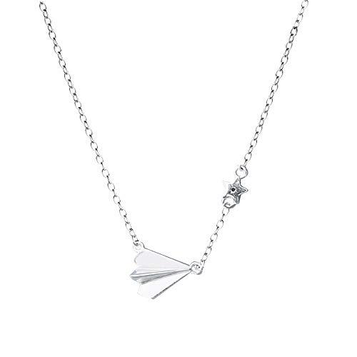 zhenfa 925 Sterlingsilber Kindheit Papierflieger einfache studentischen Schlüsselbein Kette Halskette
