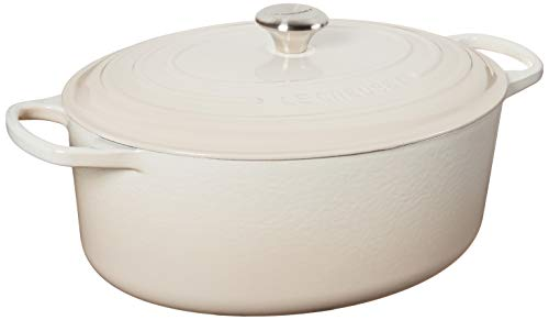 Le Creuset Enameled Cast Iron Signature Four hollandais ovale Meringue 9,5 m²