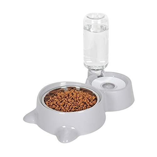 Dispensador automático de agua Forart para perros pequeños o medianos Gatos con tazón de comida, juego de cuencos dobles para gatos y perros