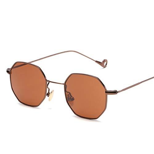 Magnifier Gafas de Sol Redondas polarizadas para Hombre, Mujer, Gafas de Sol con Espejo de Moda, Gafas de Metal para Conducir, Viajar,J