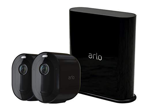 Arlo Ultra Smart Home Draadloze 4K HDR bewakingscamera & veiligheidsalarm Pro3 2K (zwart) 2er Set zwart
