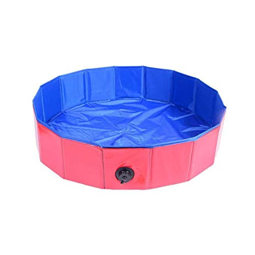 Perro plegable de baño de hidromasaje Piscina Mascota portátil a prueba de fugas piscina Gato de baño piscina de interior al aire libre (rojo 80 * 20cm), Pet Supplies