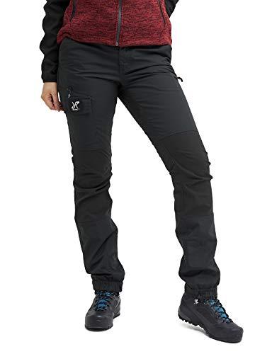 RevolutionRace Nordwand Pants Damen Wasserabweisende, Atmungsaktive und Strapazierfähige Outdoorhose zum Wandern, Trekking, Camping, Klettern, Mountainbiken und Agility, Jet Black, 36