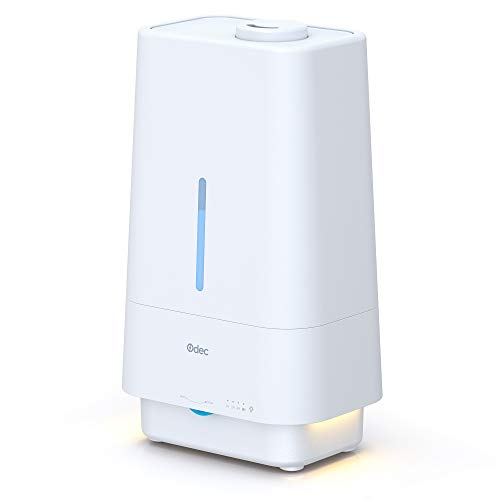 Top Fill Humidifiers for Bedroom 4.5L Cool Mist Humidifier Night Light 25dB Whisper Quiet Essential Oil Diffuser 45 Hours Ultrasonic Air Humidifier for Home, Baby, Timer 360° Nozzle Auto Shut-Off