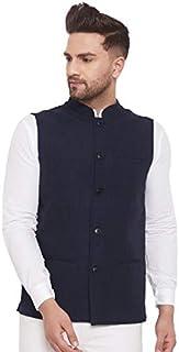 Even Men's Striped Nehru Jacket