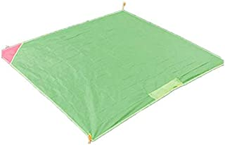 TT WARE 155x140CM Mini Pocket Blanket Portable Folding Camping Picnic Mat Ultralight Waterproof Pad-Green