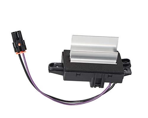 AC Blower Control Module Replaces# 1580567, 93803636, 52413530, 4P1516 - AC Heater Blower Resistor Compatible with Silverado, Trailblazer, Cadillac Escalade, GMC Envoy, Sierra, Buick Rainier