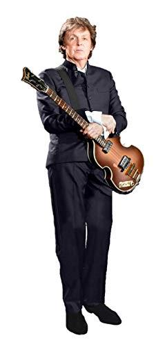 Paul McCartney The Beatles LES Paul Guitar LIFESIZE Cardboard Standup Standee Cutout Poster New