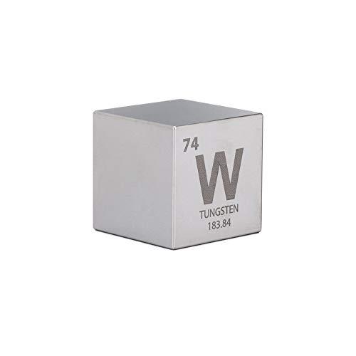 Tungsten 1.5' One Kilo Cube - Engraved Periodic Table Symbol