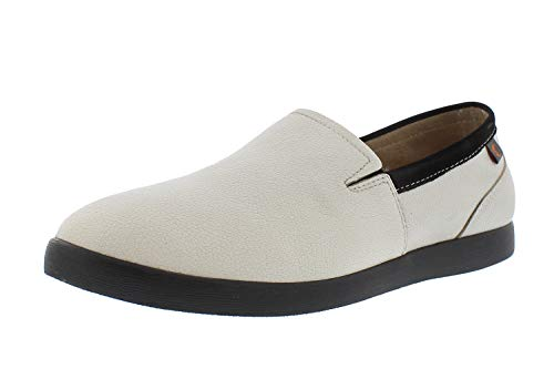 Softinos Damen SlipperMokassins LELA, Frauen Slipper, lose Einlage, Freizeit leger schlupfhalbschuh Slip-on freitzeitschuh Lady,White,38 EU / 5 UK