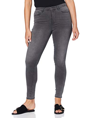ONLY NOS Damen Skinny Onlroyal High SK Dnm Jeans BJ312 Noos, Grau (Dark Grey Denim), W32/L30 (Herstellergröße: XL)