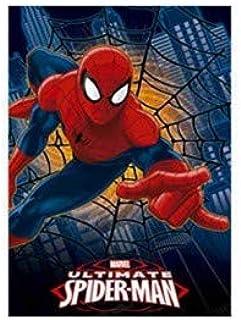 Cadeaux pour Gar/çons Couverture Enfant pour D/écoration Couverture Polaire et Doudou Bouillotte Pack Enfants Spiderman Couverture Bebe et Bouillotte Peluche Design Officiel Spiderman