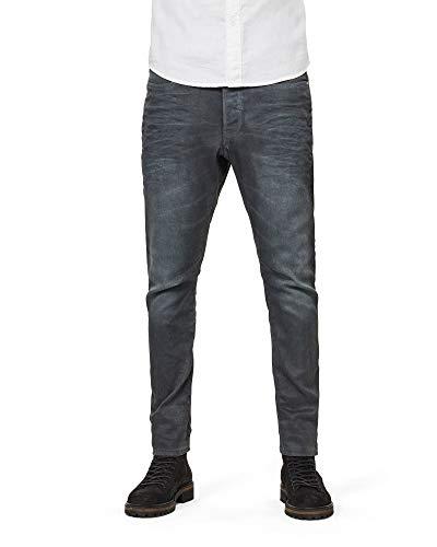 G-STAR RAW Herren D-STAQ 3D Super Slim Jeans, Mehrfarbig (Dk Aged Cobler 3143), W34 / L26