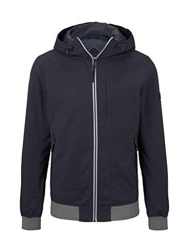 Tom Tailor Denim Mens Kapuzen Hoody Casual Jacket,  10668-Sky Captain Blue,  M