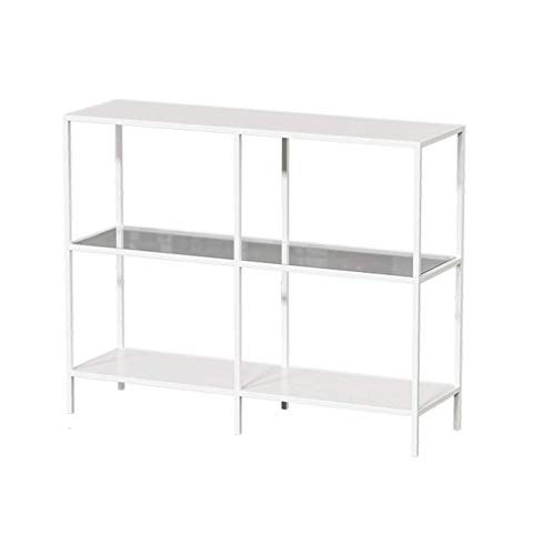 CCAN Tables 3 Levels Metal Side Table Console, Tempered Glass Entrance Table with Shelves, for Living Room, Dining Room, Hallway, Tool-Free Assembly, for Bedroom