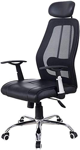 BRFDC Noble Chair Racing Gaming Bürostuhl mit Fester Kopfstütze High Back PU-Leder Ergonomischer Swivel-Computerschreibtisch-Sessel-Recliner