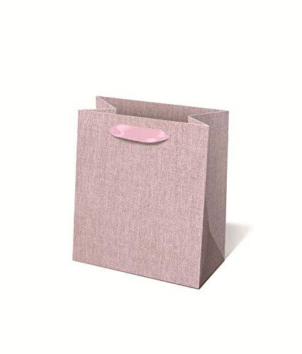 Idena 30238 - Geschenktasche Pink, 18 x 8 x 23 cm, Tragetasche, Geschenkverpackung, Geschenktüte