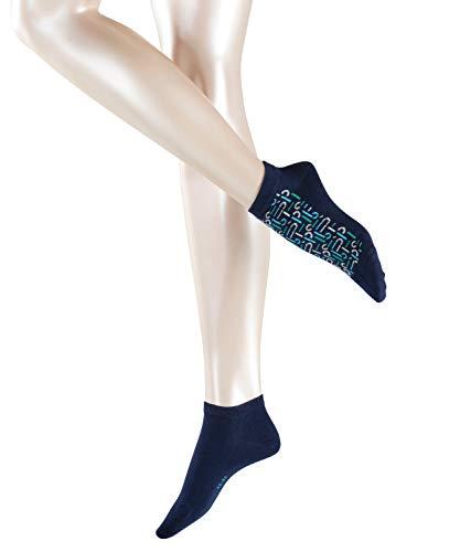 ESPRIT Dames Logo Sneaker - 2 paar, maat 35-42, versch. Kleuren, katoenmix – onderhoudsvriendelijke sneakers met modern logompatroon.