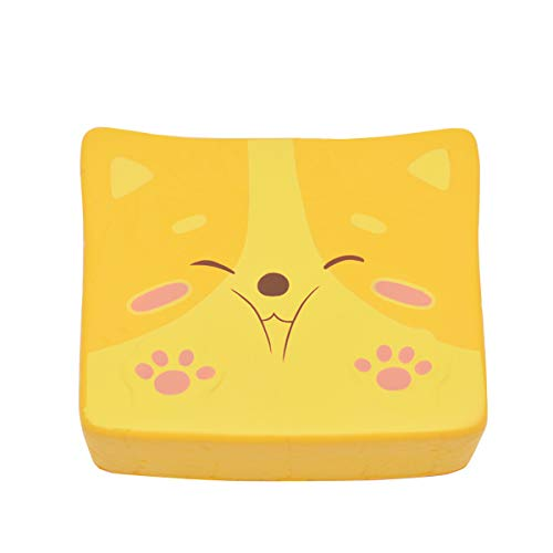 Kiibru Squishy Shiba Inu Toast Slow Rising Squishies Jumbo Scented Bread Squishies 5.5'