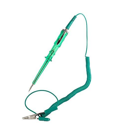 Keenso Auto Schaltkreistester, KFZ Teststift Spannung Lange Schaltungstester 6V 12V 24V für elektrische Stromkreise (Grün)