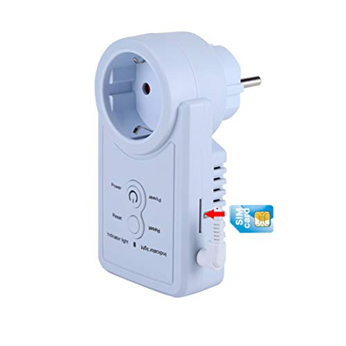 FTVOGUE Enchufe Inteligente WiFi Inalámbrico Zócalo del Enchufe de la Toma de Corriente Elegante del G/M con el Control del Comando del SMS del Sensor de la Temperatura(01)