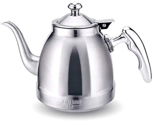 Whistling Tetera tetera tetera tetera tetera estufa de gas placa de inducción, 1,5 litros (agua)