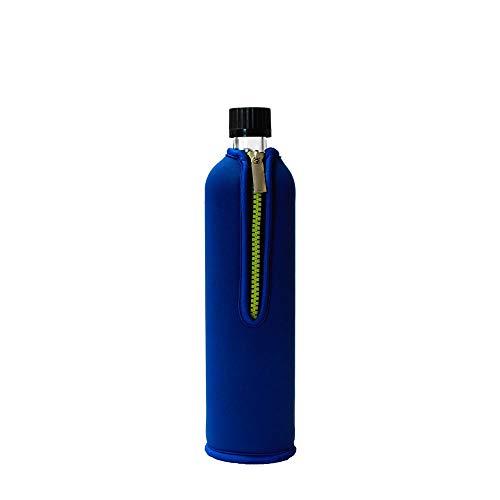 Dora´s Glasflasche mit Neoprenüberzug 700ml (blau)