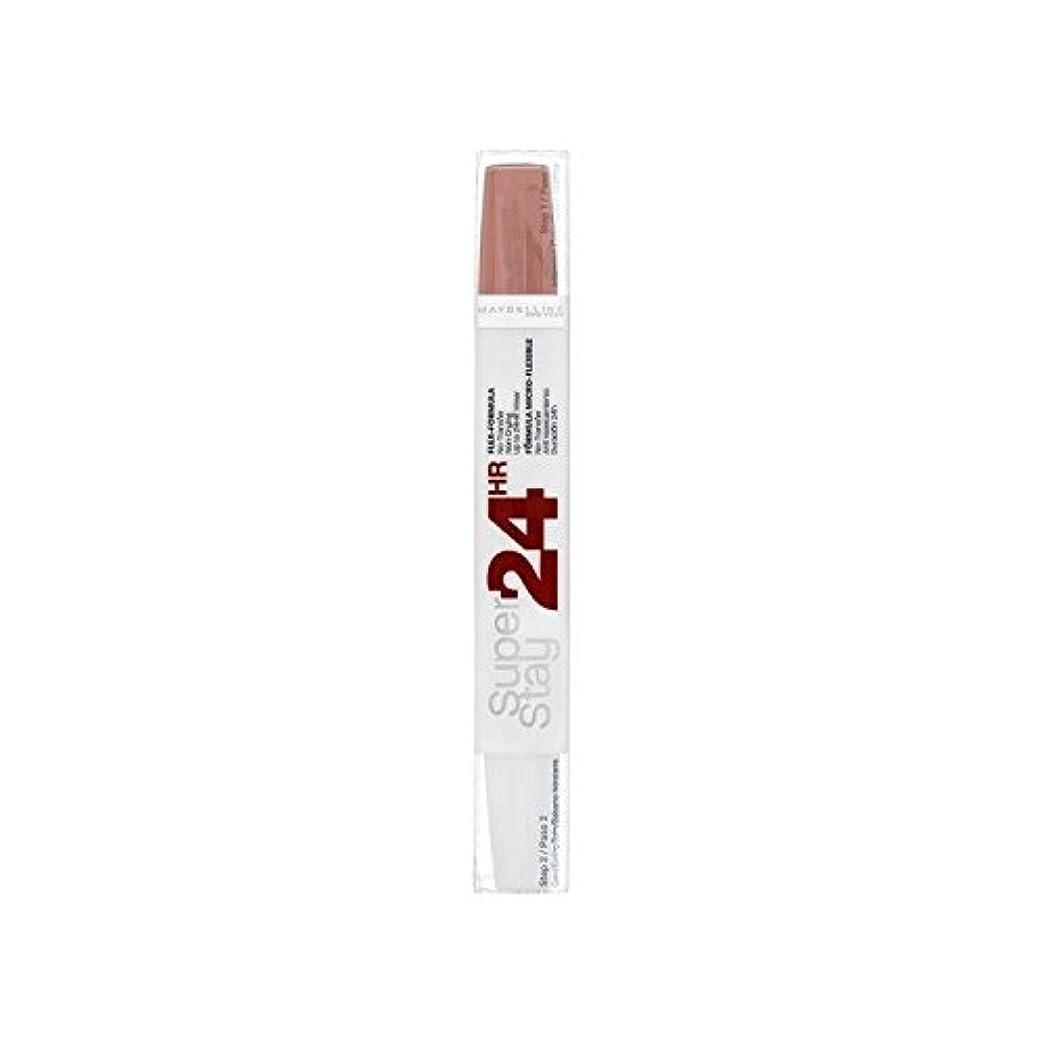 滅多電極高めるMaybelline SuperStay24H Dual Lipstick 611 Cr?me Caramel 9ml (Pack of 6) - メイベリン24デュアル口紅611カスタードプディングの9ミリリットル x6 [並行輸入品]