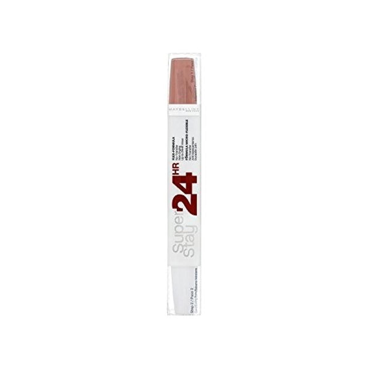 小麦粉バスルーム不健康メイベリン24デュアル口紅611カスタードプディングの9ミリリットル x4 - Maybelline SuperStay24H Dual Lipstick 611 Cr?me Caramel 9ml (Pack of 4) [並行輸入品]