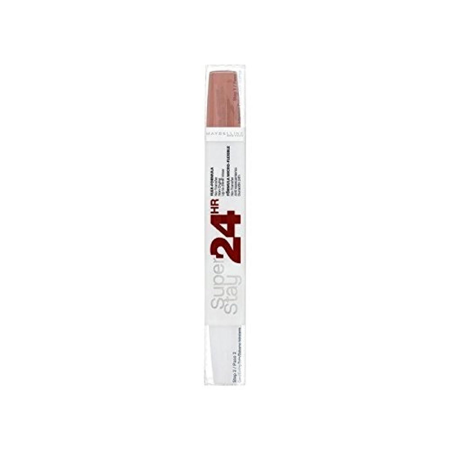 個人的にはず衣類メイベリン24デュアル口紅611カスタードプディングの9ミリリットル x4 - Maybelline SuperStay24H Dual Lipstick 611 Cr?me Caramel 9ml (Pack of 4) [並行輸入品]