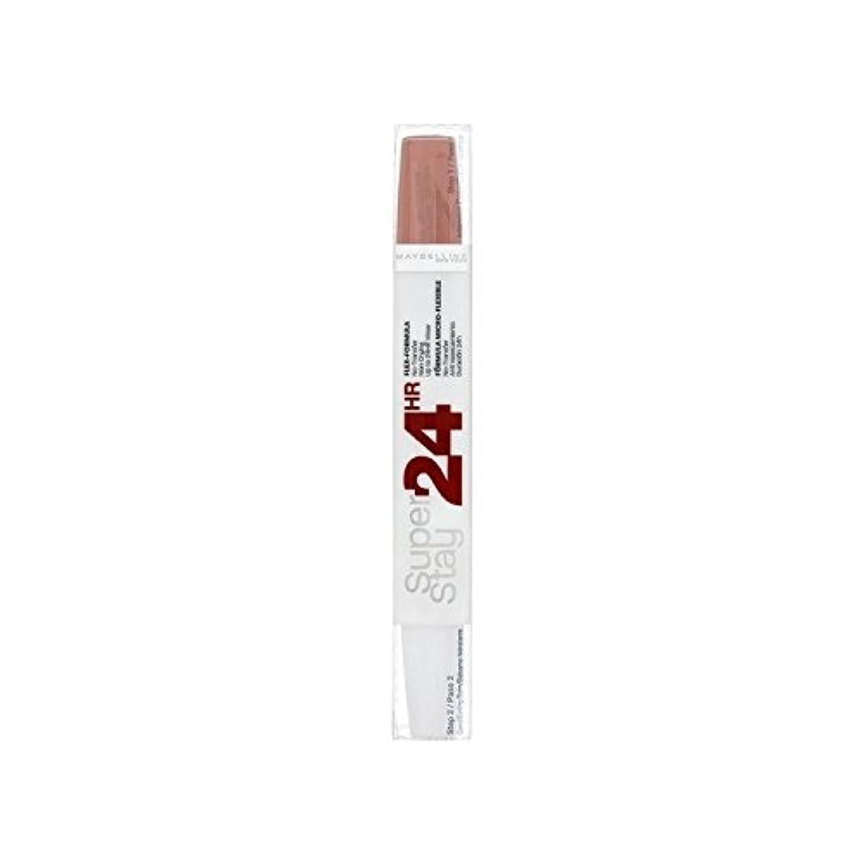 海港学士暗いメイベリン24デュアル口紅611カスタードプディングの9ミリリットル x2 - Maybelline SuperStay24H Dual Lipstick 611 Cr?me Caramel 9ml (Pack of 2) [並行輸入品]
