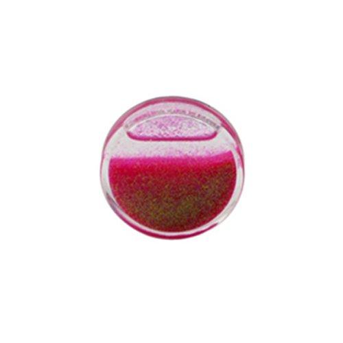Gekko Body Jewellery Tunnel / Plug / Expander, Acryl, Bilder, mit Glitzer, Pink, flüssig, 10 mm (00 g)