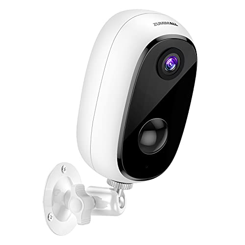 Security Camera Outdoor with 10000mAh Battery, Zumimall 1080P Wireless WiFi Cameras for Home Security, Waterproof Camera, IR Night Vision, 2-Way Talk, Motion Detection, Alert, Remote View, Cloud/SD
