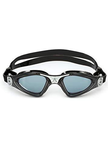 Aqua Sphere Unisex– Erwachsene Kayenne Schwimmbrille, Getönte Gläser-Schwarz/Silber, One Size