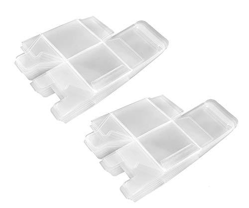 OTOTEC - Confezione da 50 scatole trasparenti in PVC trasparente per bomboniere, per matrimoni, Natale, caramelle, 5 x 5 x 5 cm