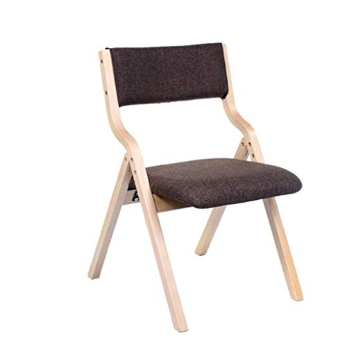 JJZXD Chaise de Simple en Bois Massif Pliant, Assise et Dossier rembourrés for Home Office Party Utilisation
