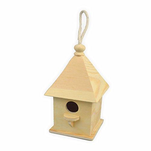 Vogelhaus zum bemalen quadratisch h=20,5 cm 11 x 11 cm