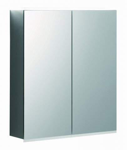 Keramag Geberit Option Plus Spiegelschrank mit Beleuchtung, Zwei Türen, Breite 60cm, 500593001