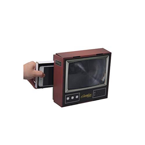 Amplificador de pantalla de teléfono móvil HD 3D para TV Mini Retro Mini Lupa de 8 pulgadas con soporte plegable para cualquier smartphone película vídeo