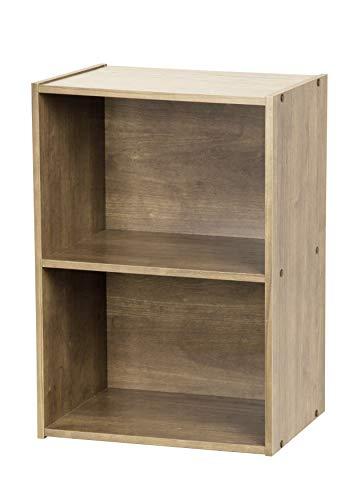 Marca Amazon - Movian Basic Storage Shelf CX-2 Mueble de Almacenamiento/Estantería Modular, 2 Compartimentos, Engineered Wood, Marrón (Ceniza), L41.5 x P29 x A59.5 cm