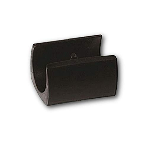 4x Klemmschalengleiter Stuhlgleiter Kunststoff, schwarz, mit 1 Zapfen, für Rundrohre